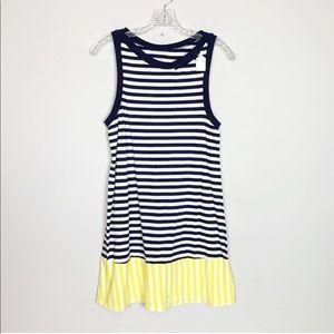 Kate Spade striped sundress navy, white, yellow S
